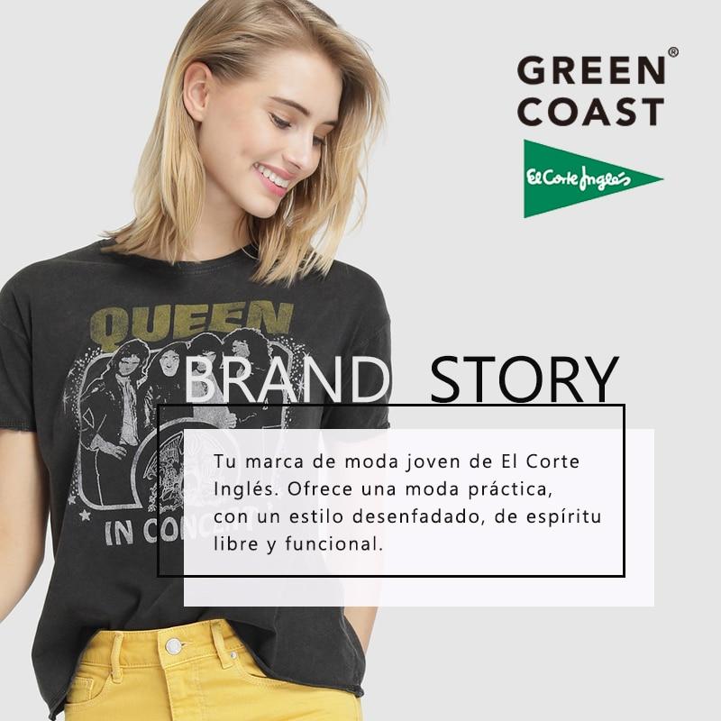 0dee164a5 € 19.99 |Green Coast Vaquero Cropped Pitillo de Mujer Estampado Liso Cierre  Delantero de Cremallera y Botón Trabillas en la Cintura y Cinco ...