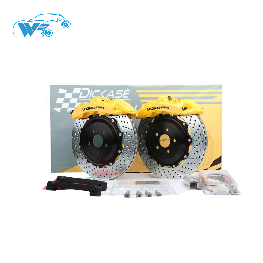KOKO RACING using car brake system GT6 caliper yellow color J hook disc 362*32mm for 19inches wheel for Mercedes Benz c w204