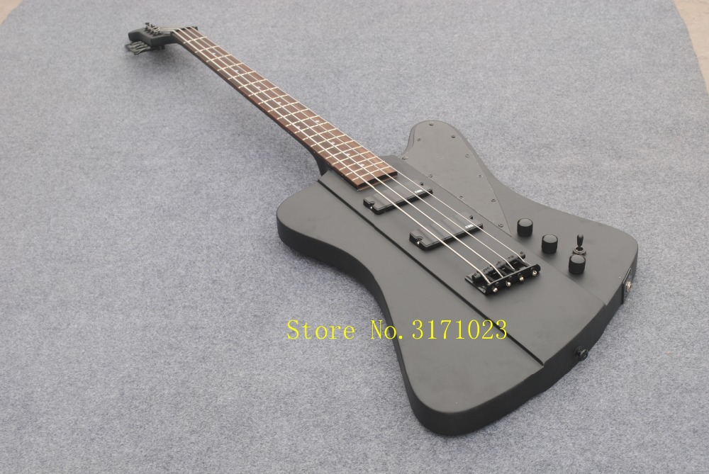 NEW Custom 4 Strings Bass Guitar Matte black Factory from China Free shipping free shipping chinese factory custom 2017 100