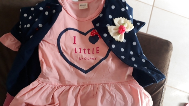 Baby Girl's Polka Dot Patterned Cotton Clothing Set photo review