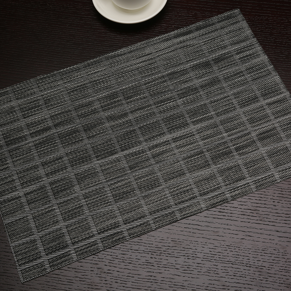Black Plaid Placemat Rectangle Pvc Dining Table Mat For Table Decoration Accessories 45x30cm Mats Pads Aliexpress