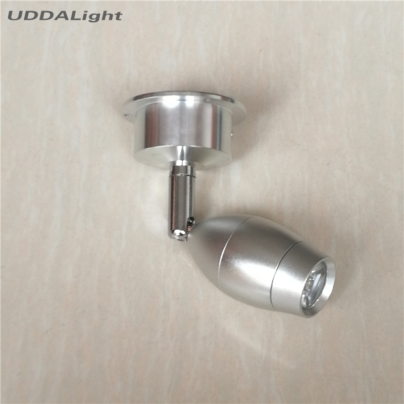 Lâmpada quarto 1-3 w lâmpada de parede teto/spot de iluminação Parede Montada DIA sobre 31*58mm