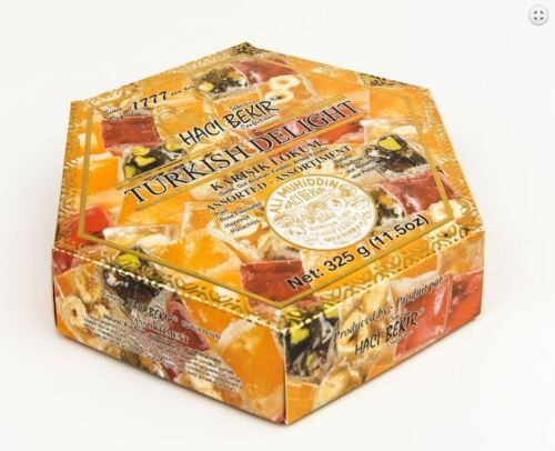 HACIBEKIR TURKISH DELIGHT ASSORTED From HACIBEKIR 325 Gr Mixed Flavor