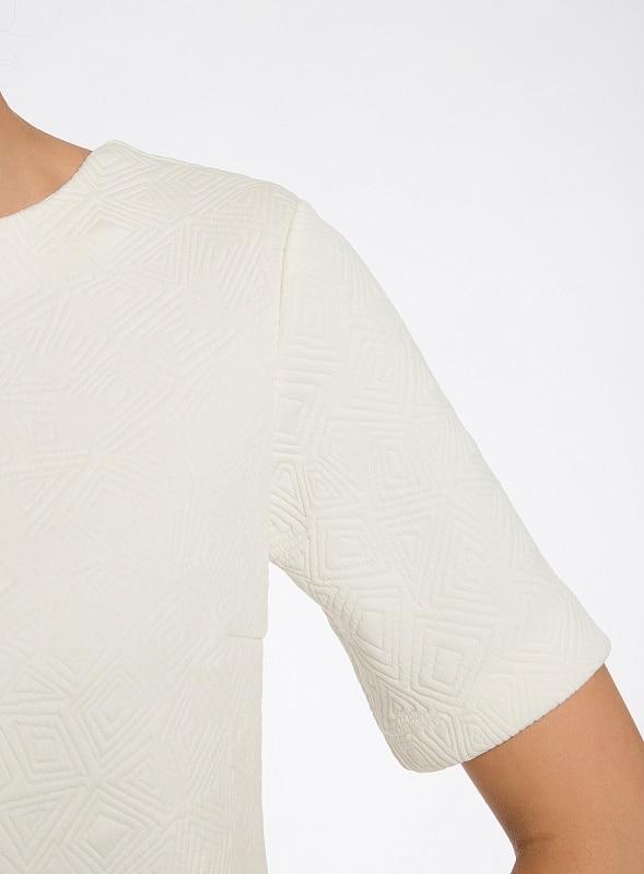 Oodji 2017 платье из фактурной ткани прямого силуэта бесплатная доставка по россии 24001110-4/46432 170 cm