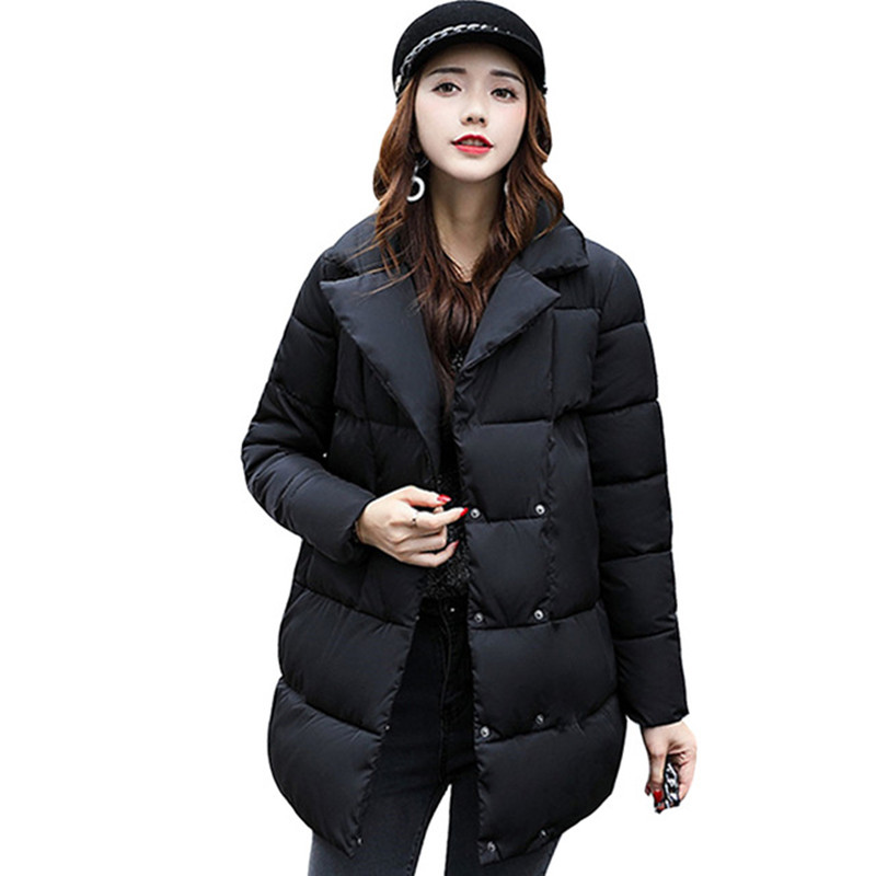 Зима женщины пуховик зимнее пальто зимняя куртка хлопка ватник Женщина Зимняя Куртка Пальто
