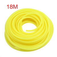 UXCELL Yellow 20M Dia 5Mm Silicone Fuel Petrol Pipe Tube Hose For Motorcycle