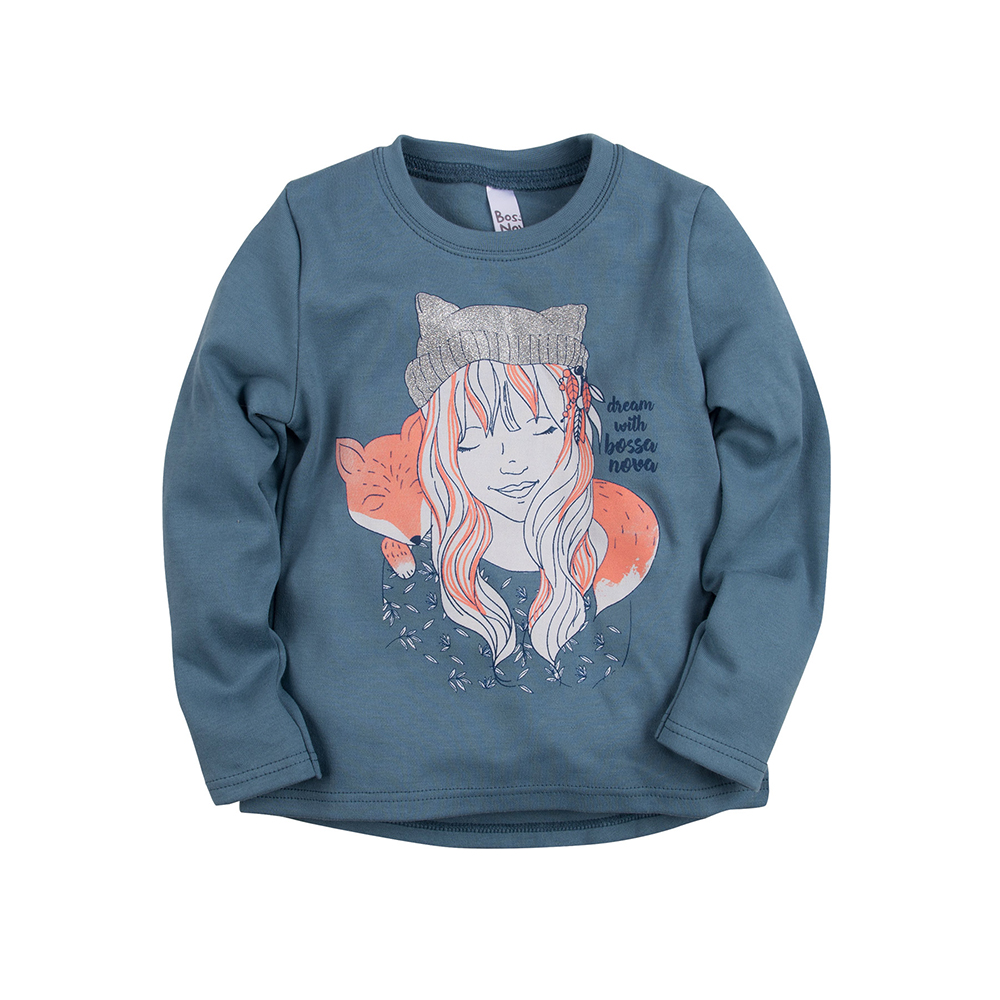 Hoodies & Sweatshirts BOSSA NOVA for girls 173b-361s Children clothes kids clothes цена в Москве и Питере