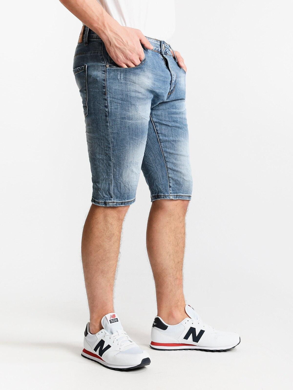Bermuda Jeans Wrinkled