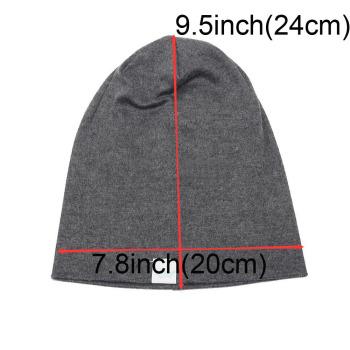 Fashion Cute Solid Knitted Cotton Hats For Newborn Baby Children Autumn Winter Warm Earmuffs Colorful Crown Caps Skullies 1
