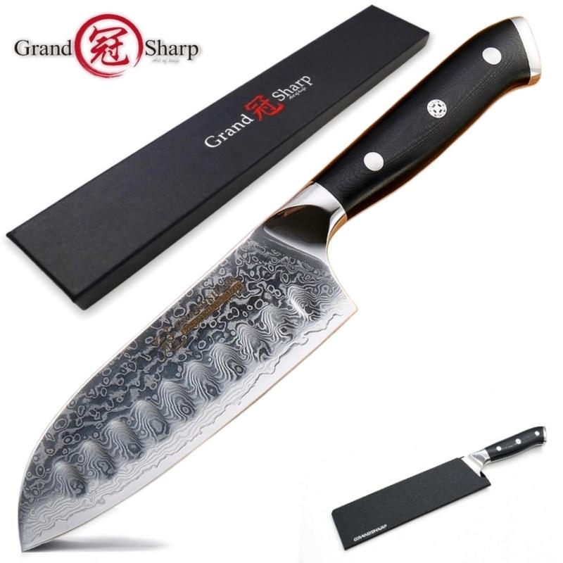 5 Zoll Santoku Messer Vg10 Japanischen Damaskus Edelstahl 67