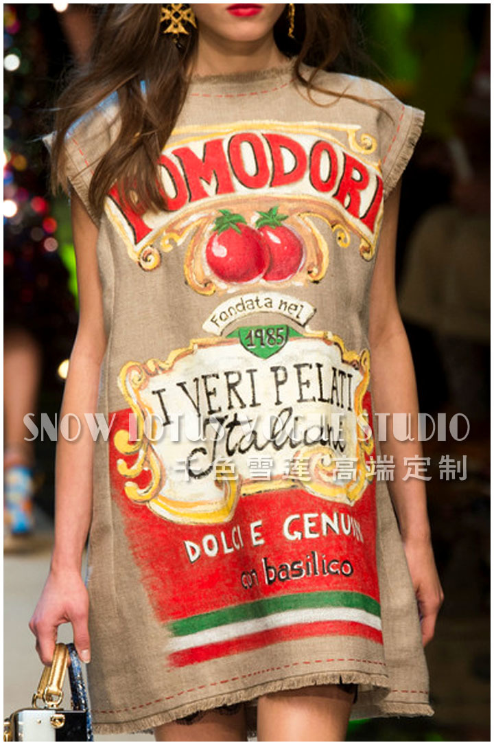 Новый сезон: весна–лето подиумные платья Для женщин высокое качество томатный печати Бисер сексуальное платье Клубные белье скольжения пл