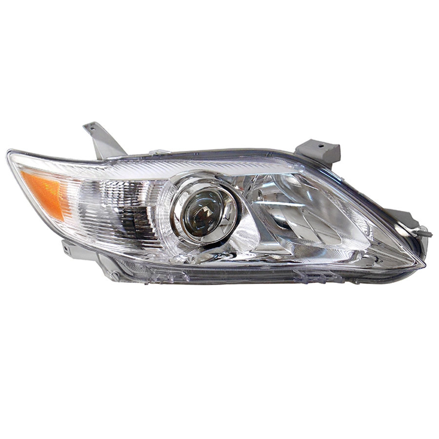 Headlight Right Fits TOYOTA CAMRY 2009 2010 2011 Headlamp Right CHROME With Yellow Turn Signal