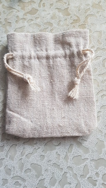 eTya Handmade Cotton Linen Storage Package Bag Drawstring Bag Small Coin Purse Travel Women Small Cloth Bag Christmas Gift pouch photo review