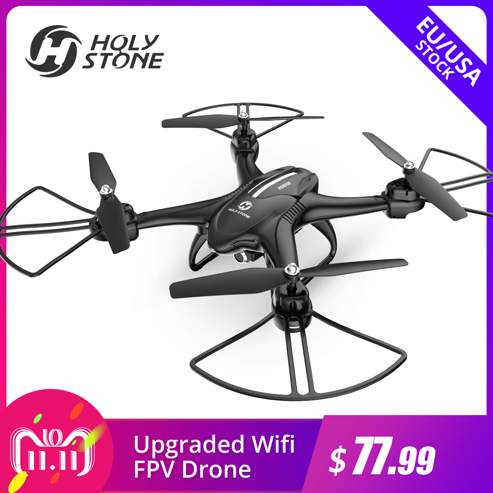 lensoul 2 4ghz fpv wifi 2 0mp hd camera 3d flips hover altitude hold aerial photography remote control quadcopter [EU USA Stock] Holy Stone HS200D 720P Wifi HD Selfie Camera FPV Drone 120 degree 3D Flips RTF RC Altitude Hold RC Quadcopter