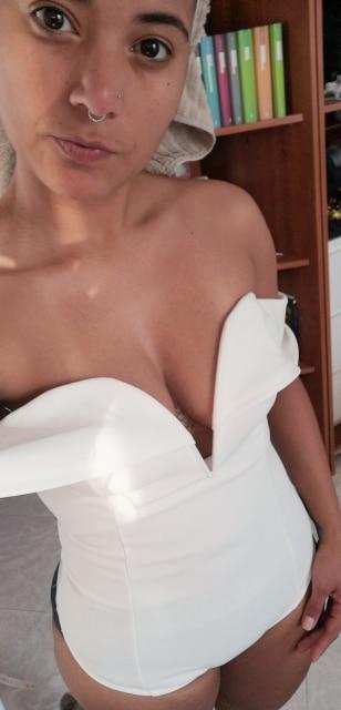 White Deep V Neck Front Bardot Bodysuit Sexy Party Off Shoulder Skinny Bodysuits Women Plain Mid Waist Summer Bodysuit photo review