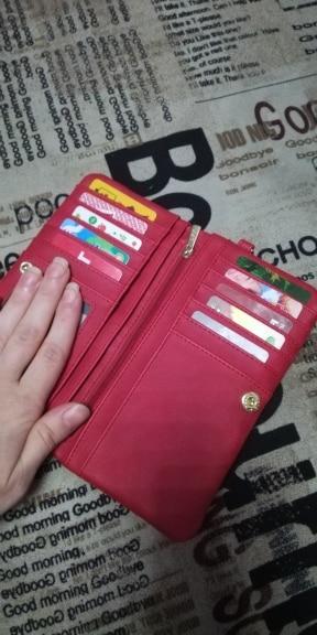 Fashion Women Purse Wallets Female Money Coin Purses Pu Leather Women Wallet Card Holders Long Clutch Carteras WWS076-1 photo review