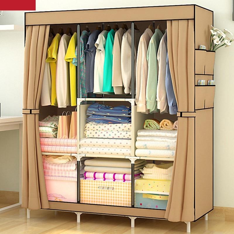 hot sale nonwoven assembled wardrobe closet clothes storage cabinet wardrobe modern bedroom furniture wardrobe