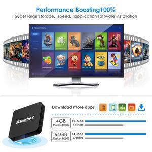 Image 4 - Caixa de TV do Google K4 MAX 4G RK3228 64G Inteligente Android 9.0 Caixa De TV Rockchip WiFi LAN Media Player assistente de Controle Remoto CAIXA de TV Inteligente