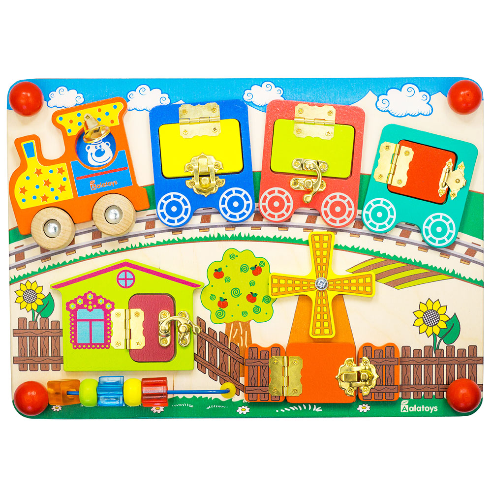 Puzzles Alatoys BB103 play children educational busy board toys for boys girls lace maze toy musical instrument alatoys kc0704 play glockenspiel xylophone music toys for boys girls
