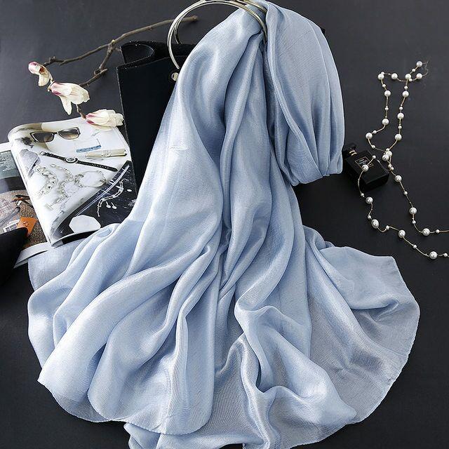 N3 High Quality  Silk Shimmer Plain Women Hijab Wrap Shawls Scarf Scarves Heandband   10pcs 1lot