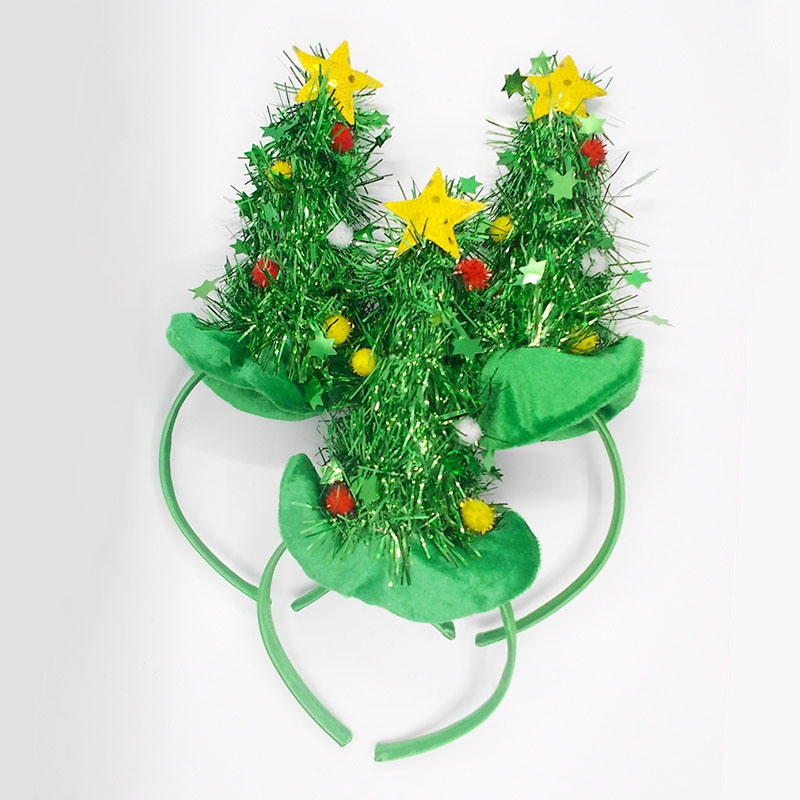 St. Patrick treeFrankees Christmas Tree Hair Band Hair Accessories Christmas Gift Decoration Home Party Head
