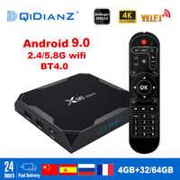 X96 Max Smart tv box Android 9.0 2,4G/5G Wifi Bluetooth 4,0 S905X2 Quad Core 4K Netflix player X96max Set-Top Box