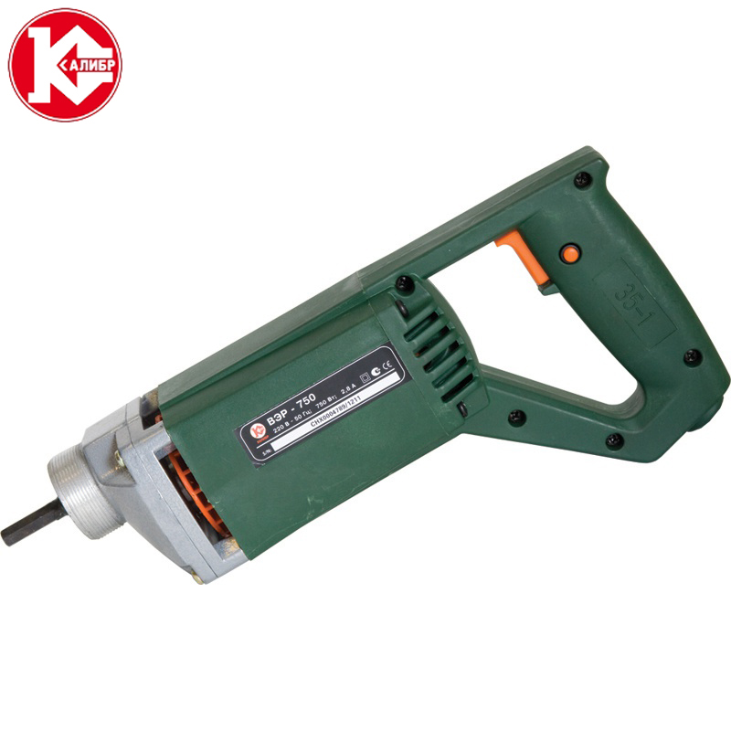 Kalibr VER-750 CONCRETE VIBRATOR STABLE VOLTAGE MOTOR SIMPLE TO HANDLE Construction Tools 148 single joint motor potentiometer b50k handle length 20mm