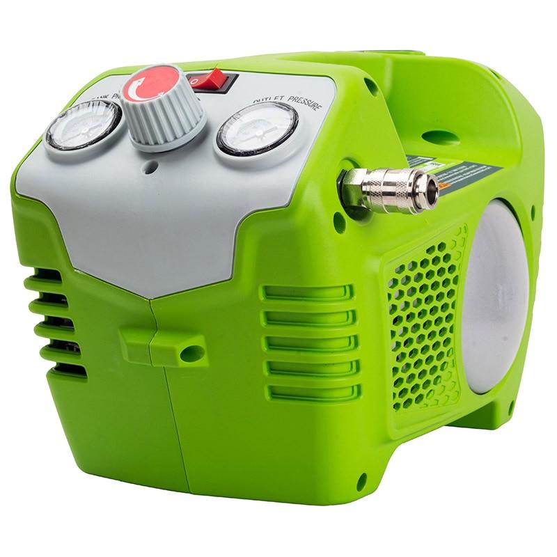 Battery air compressor Greenworks G40AC 40V without battery and charger tomo v8 2 18650 battery charger