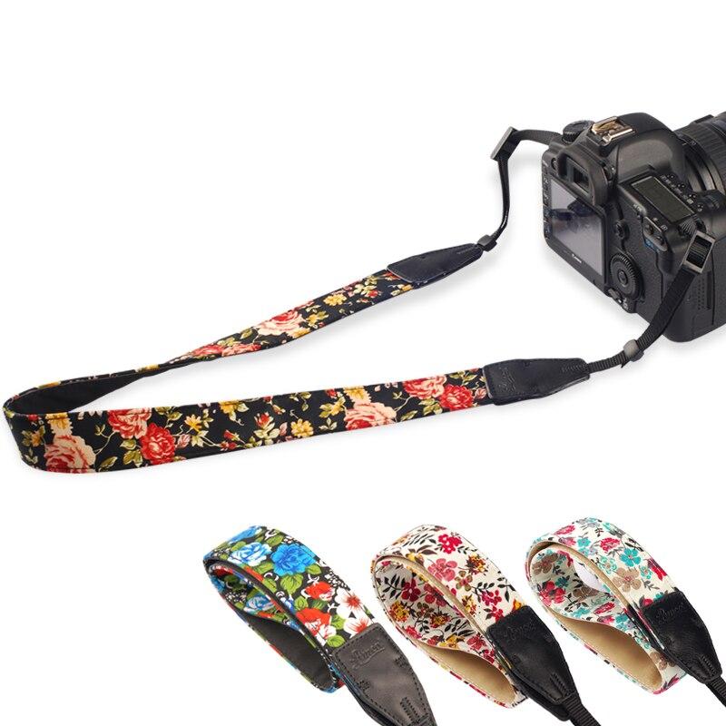 1pcs Camera Shoulder Strap Neck Belt Vintage Chinese Flower Style Durable Cotton Universal Straps For Canon For Nikon DSLR