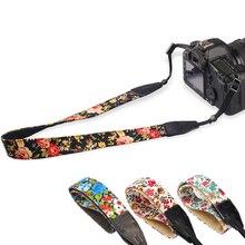 2 pçs/lote Camera Shoulder Strap Neck Belt Flor Estilo Chinês Do Vintage Cintas de Algodão Durável Universal para Canon para Nikon DSLR