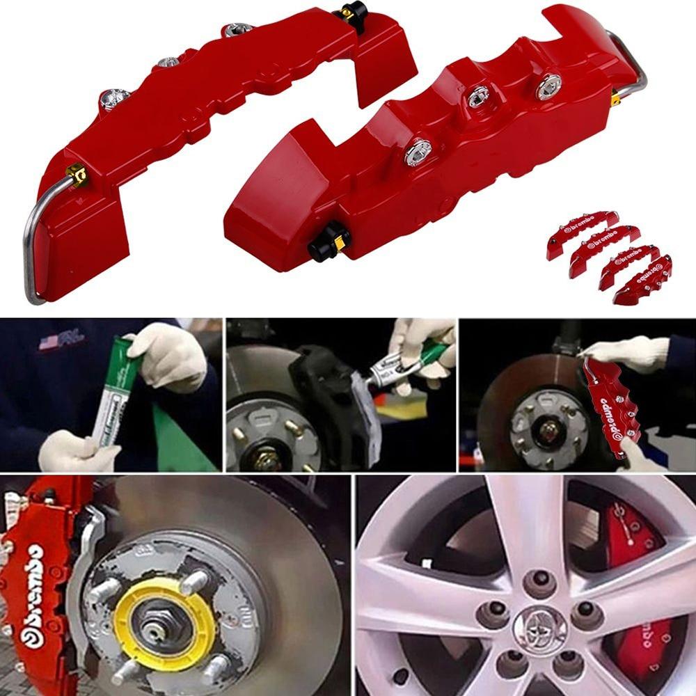 4Pcs 3D Style ABS Car Universal Disc Brake Caliper Covers Front /& Rear Kit US