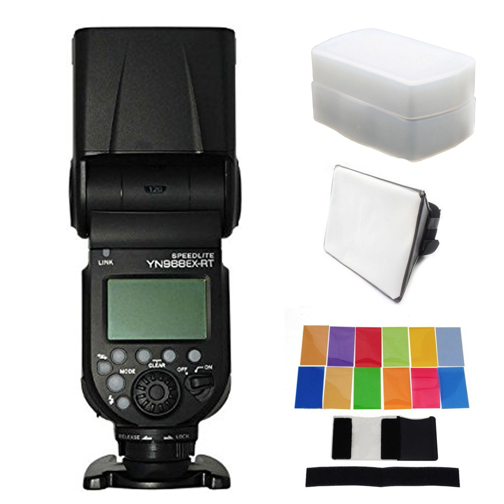 YONGNUO YN968EX RT LED Wireless Flash Speedlite Master TTL HSS for Canon 6D 80D 600D 200D