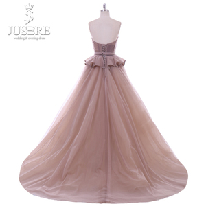 Image 3 - Jusere Sweetheart Hals Lace up Back Lange Prom Dress 2018 Kralen Avondjurken