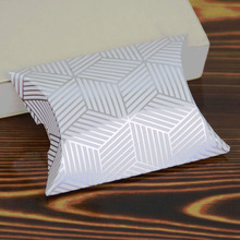 10pcs/lot  Gold Silver Colour Pillow Shape Candy Box Wedding Favors and Gifts Party Supplies