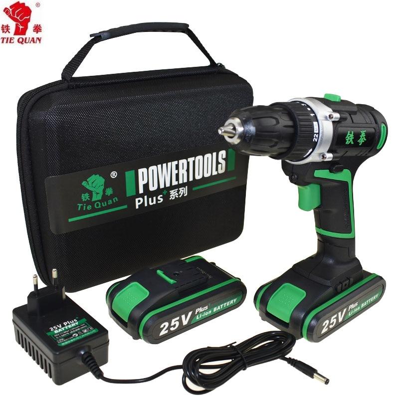 25V Power Tools Electric Drill Cordless Drill Electric Screwdriver Mini Drill Electric Drilling Electric Screwdriver EU Plug