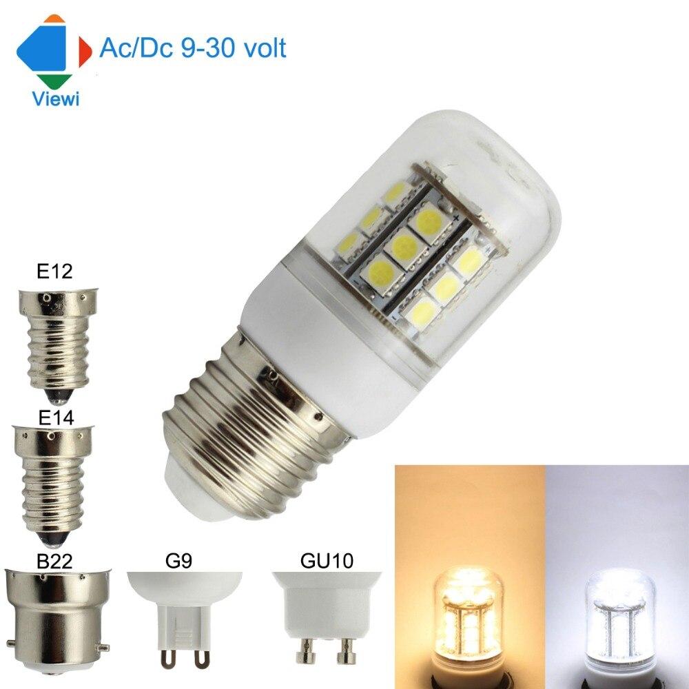 5x 24 volt led bulbs 12v e14 e27 g9 5w corn lamp smd 27leds high