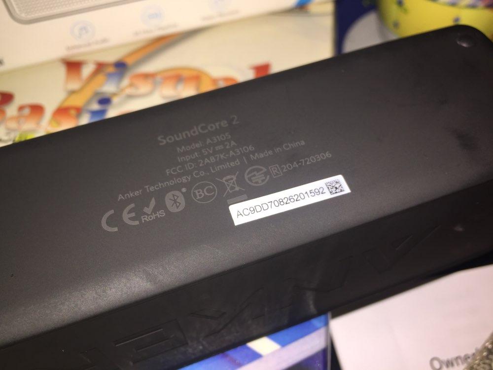 Anker SoundCore 2 Портативный Bluetooth Беспроводной Динамик лучше бас 24 часа воспроизведения 66ft Bluetooth Диапазон IPX5 сопротивление воды