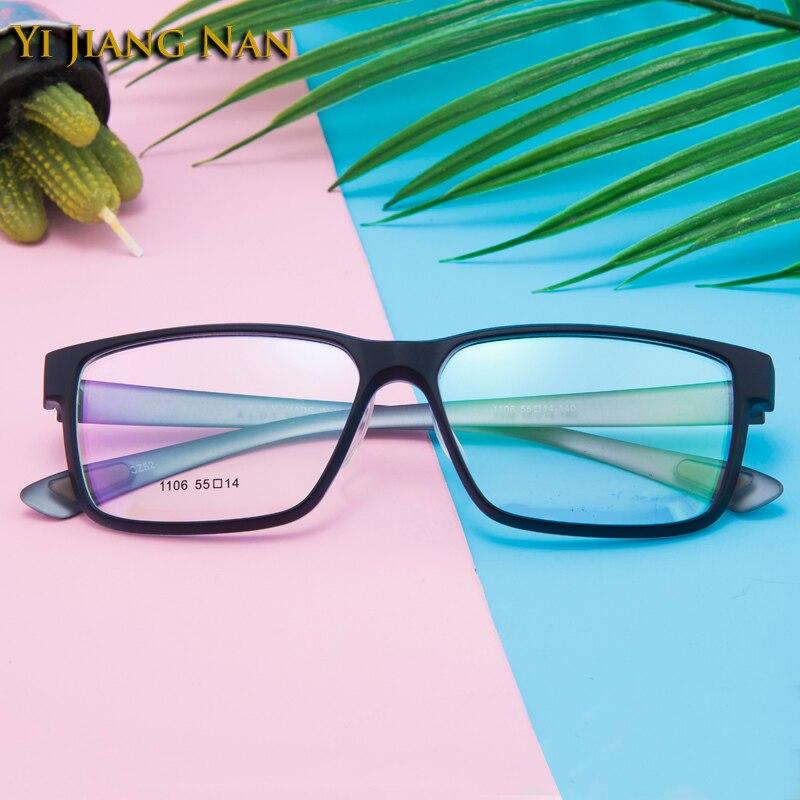 Yi Jiang Nan Brand TR90 Glasses Sport Big Rim Eyeglasses Men Prescription Glasses Armacao De Oculos