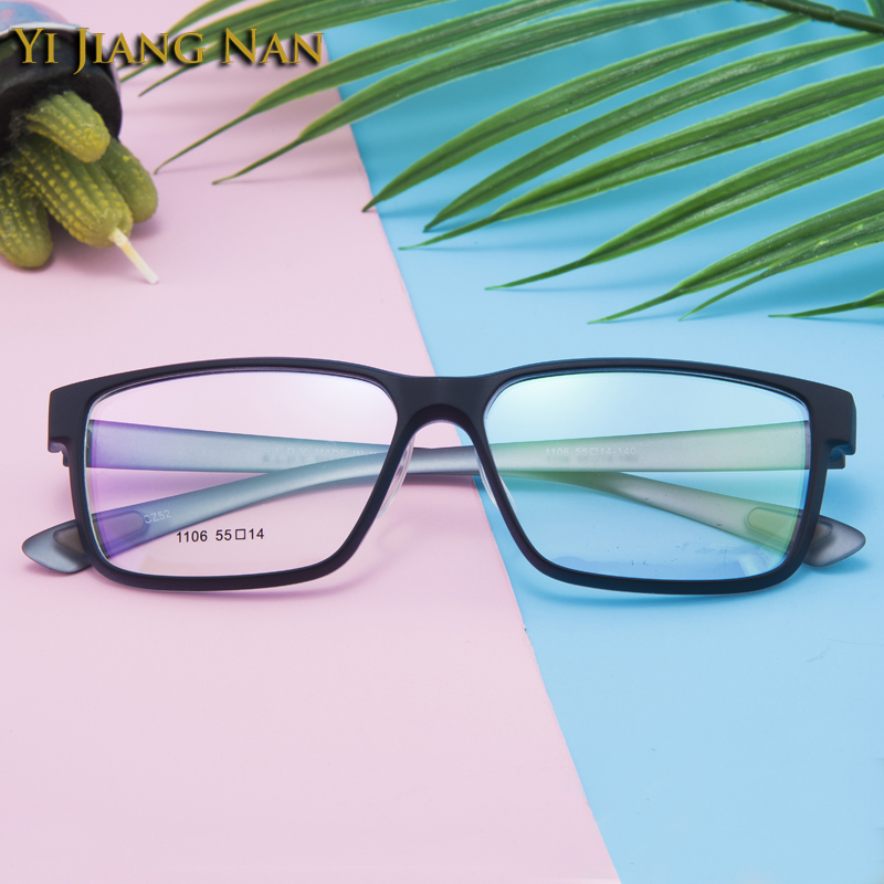 100% Kwaliteit Yi Jiang Nan Merk Tr90 Bril Sport Grote Velg Brillen Mannen Prescription Bril Armacao De Oculos De Grau Vrouwen 138mm Breedte Minder Duur