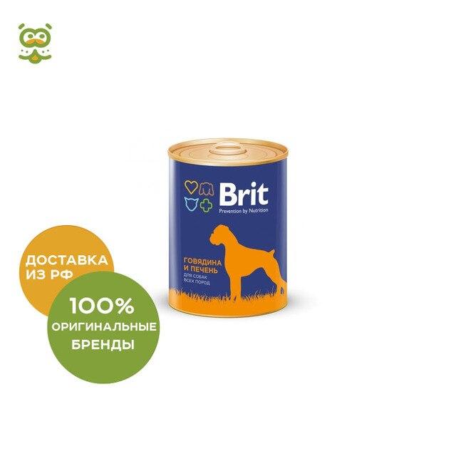 Brit Premium консервы для собак (паштет), Говядина и печень, 850 г.