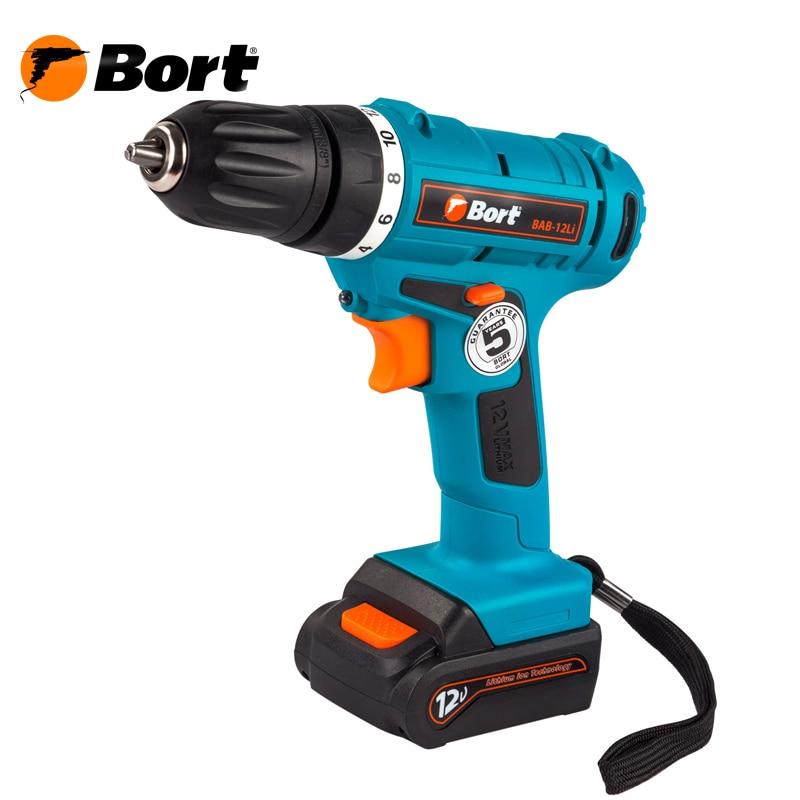 цена 12V Bort Li-Ion Lithium Battery Electric Drill Cordless Screwdriver Mini Drill Cordless Screwdriver Power Tools Cordless Drill BAB-12Li онлайн в 2017 году