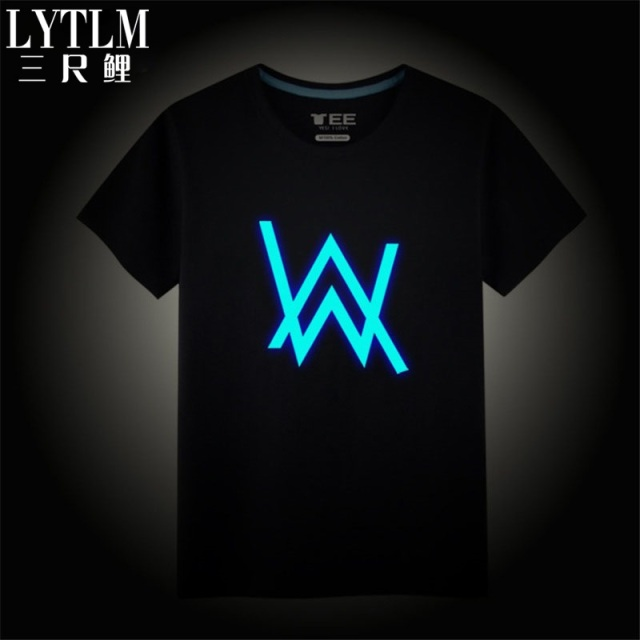 00c148c19 LYTLM Neon Alan Walker T Shirt Funny T Shirts Geek DJ Style Luminous T-Shirt  Boys Clothing Baby Boy Clothes Girls Tops Steampunk