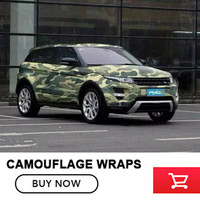 Digital Adhesive Black White Camo Vinyl Wrap Camouflage Film With Air Bubble Free For Car Wrapping Motocycle