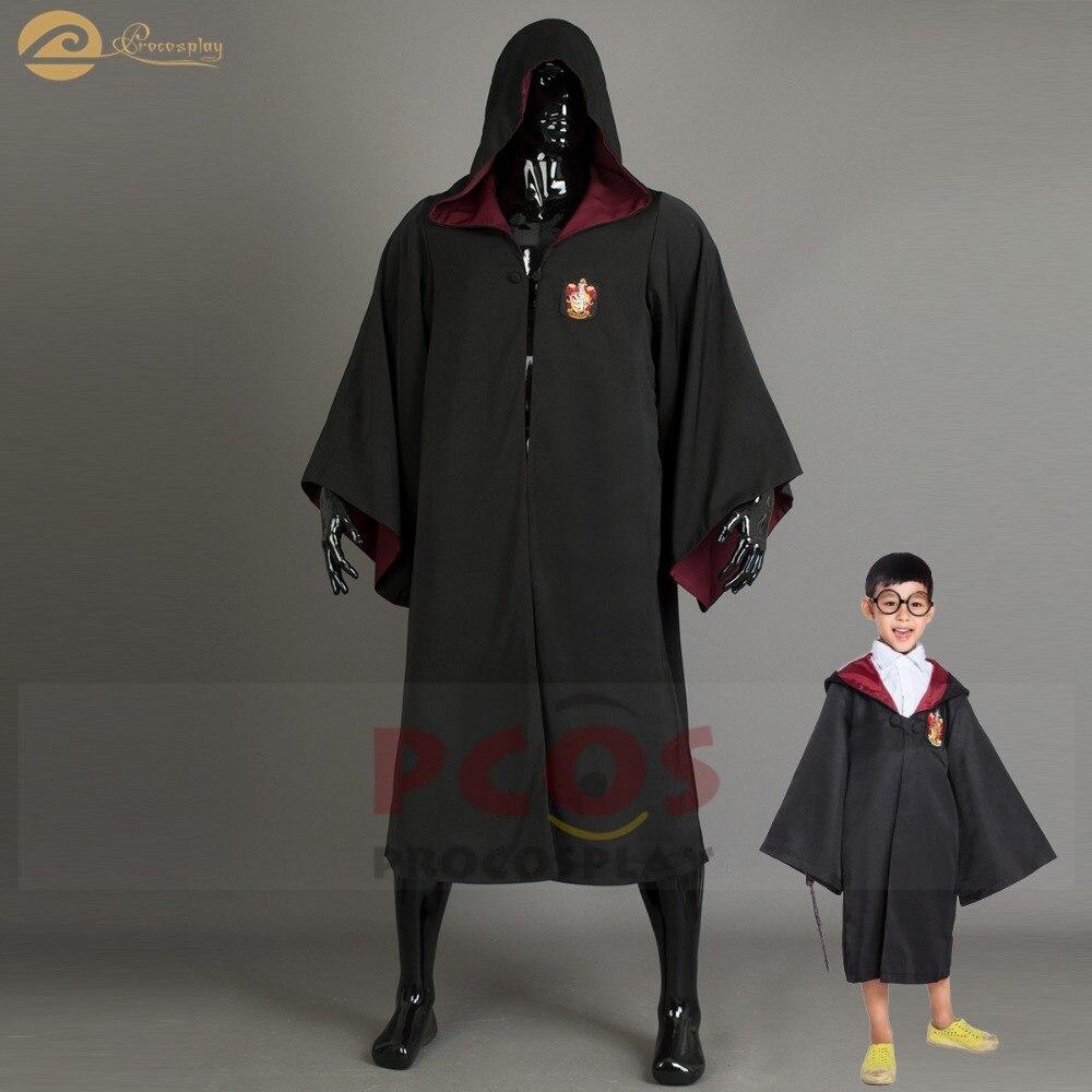 Procosplay Uniforme scolaire Manteau Cosplay costume Cape Gryffondor École Poudlard Magique cosplay costume Harri Potter manteau mp004118