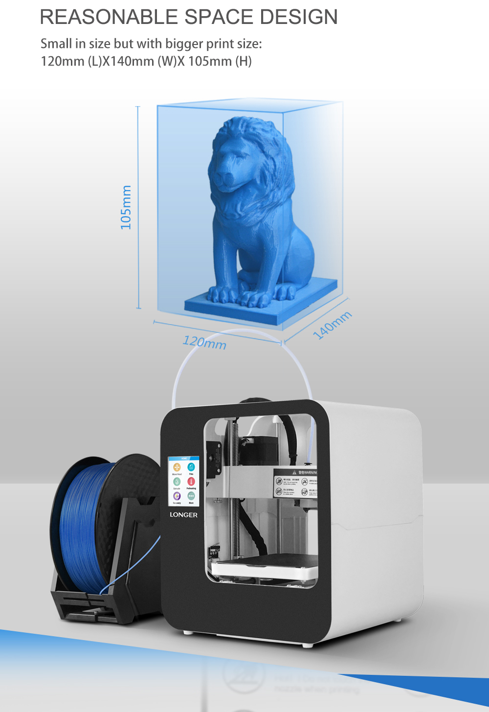 Alt Longer3D Cube2.0 FDM 3D printer-6