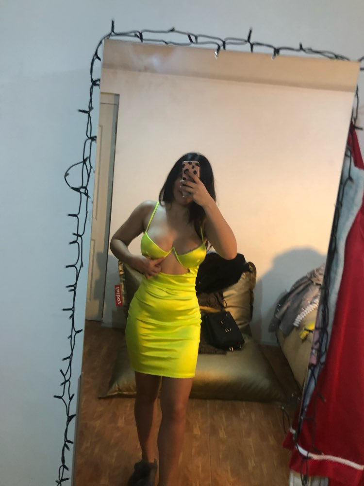 2 Layers Sexy Satin Dress Neon Cut Out Bodycon Dress Women Tight Party Dress Summer Ladies Dresses Woman Party Night photo review