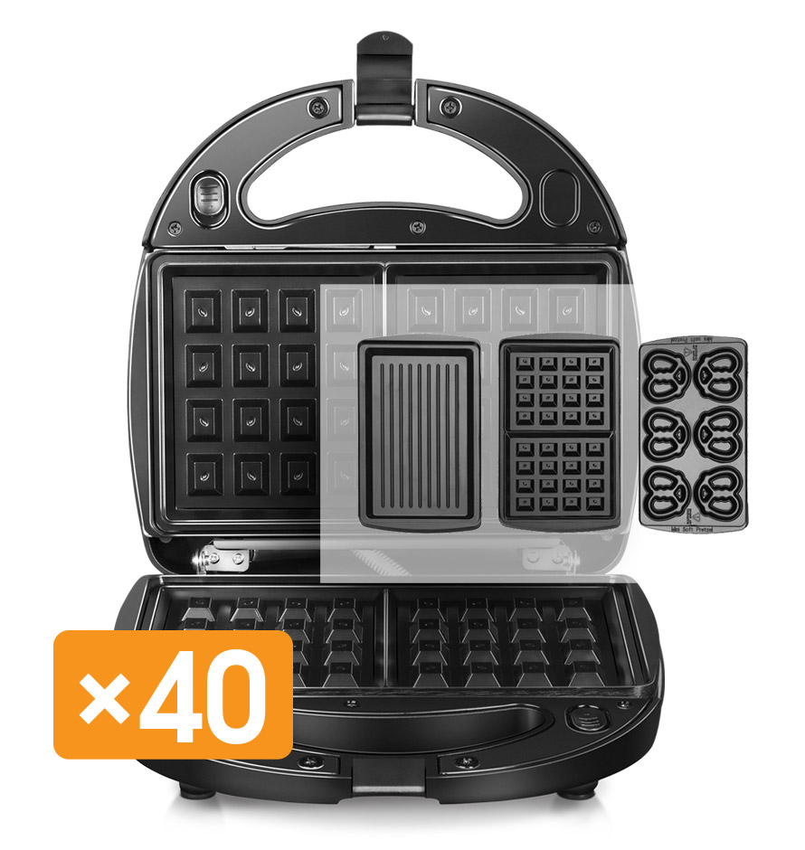Multibaker REDMOND RMB-M604 multi baker appliance waffle maker grill sandwich omletnitsa donut electric square shape waffle maker commercial waffle baker plaid cake furnace machine heating machine fy 115
