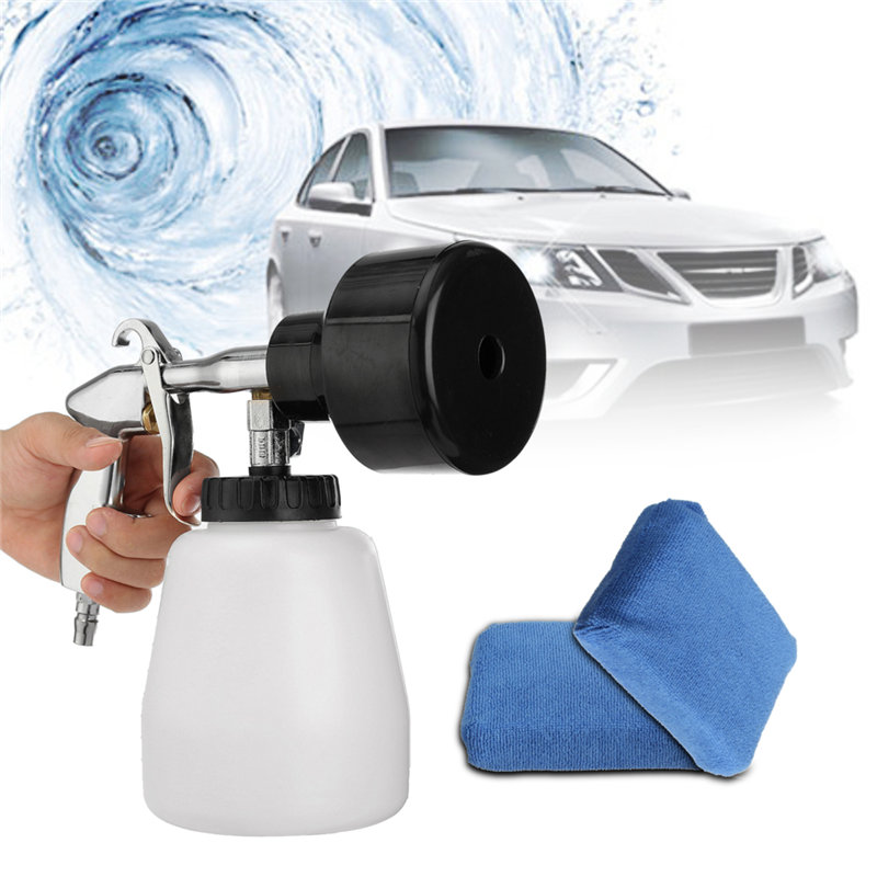 Car Cleaner Air Pulse White Car Tornador Car Surface Cleaning Washing Air Pulse Spray with Sponge Car Cleaning Tornado Sponge