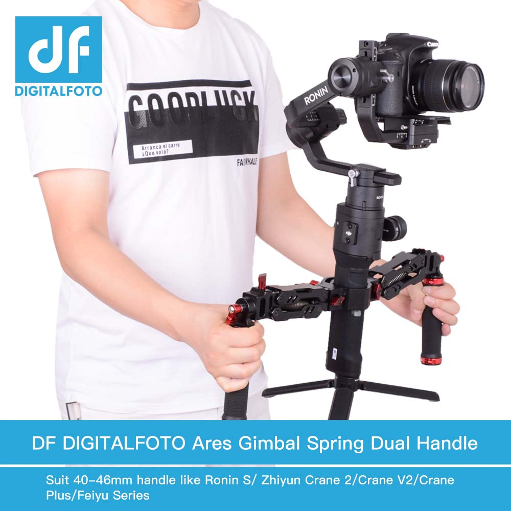 Alloy Aluminum Z axis Detachable Spring GIMBAL Dual Handle 1 8 5kg Loading for DJI Ronin