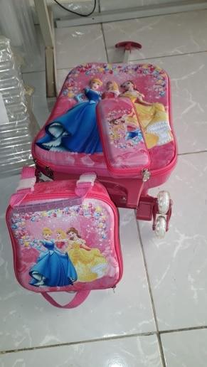 3D Kids Rolling School Bags girl's Boy's trolley case Children Travel suitcase School Mochila  Kid's Trolley Bags with wheels photo review